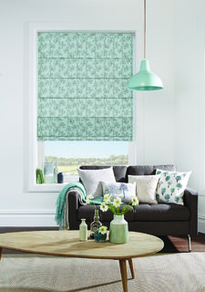 Louvolite fabric roman blinds