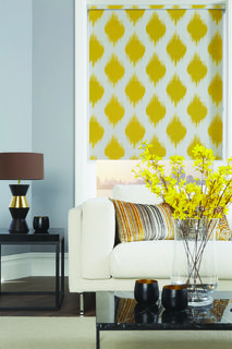 Louvolite fabric roller blinds