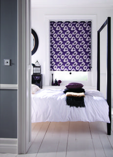 Roller blind - Poppy - Purple
