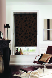 Roller blind - Taffeta - Chocolate
