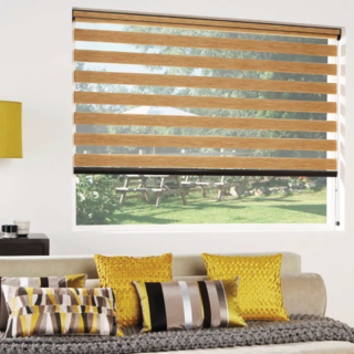 Vision blinds - natural wood weave