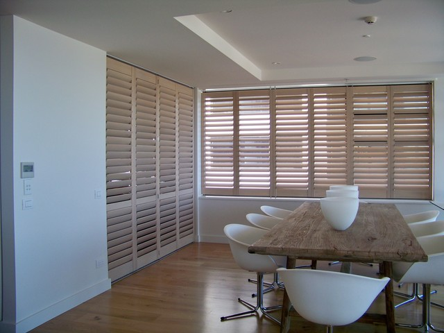 Shutters dining room limed white