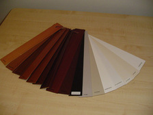 Cedar venetian blind colour swatch