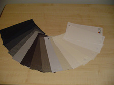 Sunscreen roller blinds colour swatch
