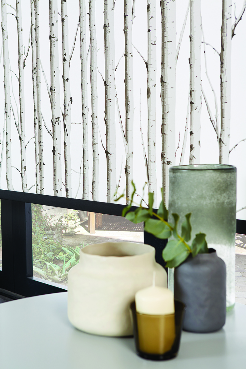 Woodland Silver Birch Roller Blind