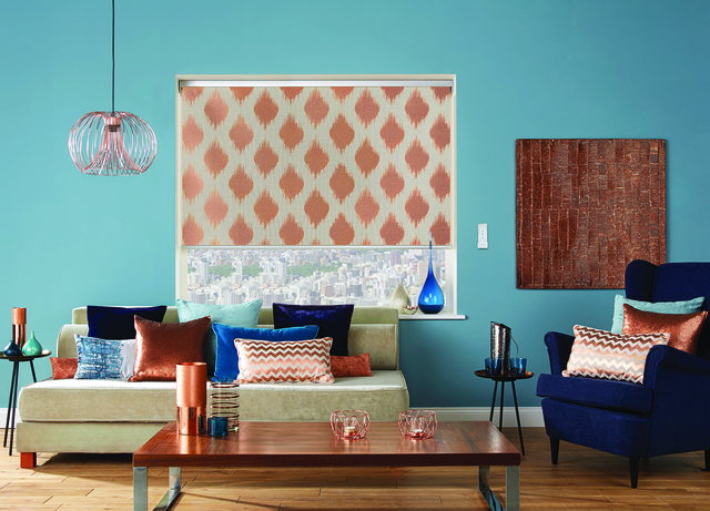 Fabric roller blind - Farrah Copper